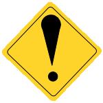 ビックリマーク標識